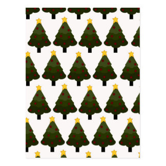 Christmas Tree Pattern Winter Holiday Gifts Postcards