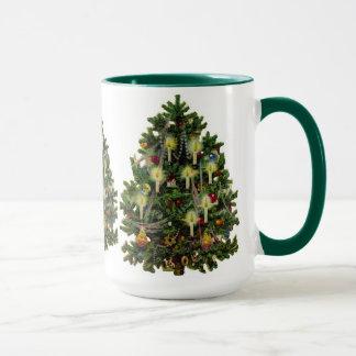 Christmas Tree Peace Love Hope Joy Party Mug