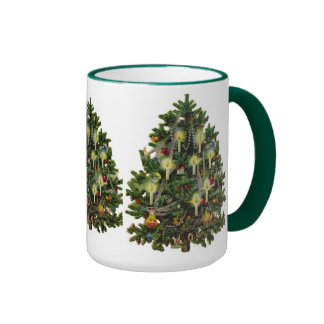 Christmas Tree Peace Love Hope Joy Party Mugs