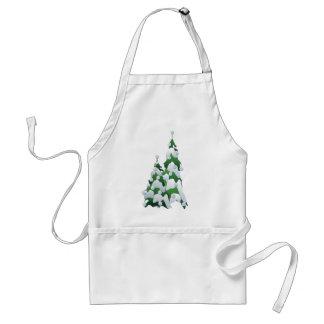 CHRISTMAS TREE & PEARLS by SHARON SHARPE Adult Apron