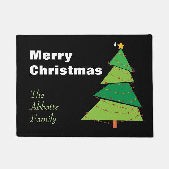 Christmas Tree-Personalized Doormat