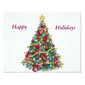 Christmas Tree Personalized Invitation