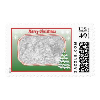 Christmas tree photo Stamp