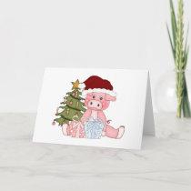 Christmas Tree Pig Card