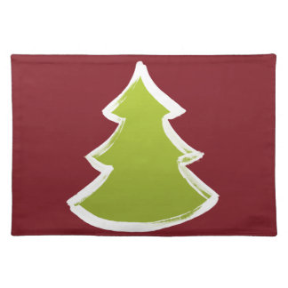 Christmas tree placemats