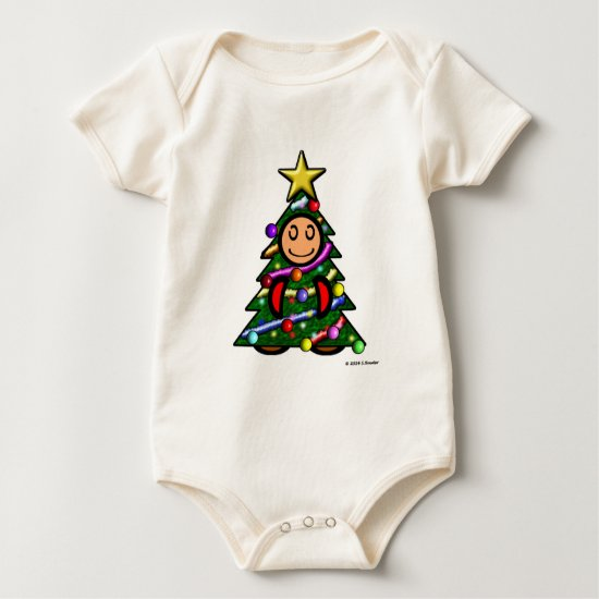 Christmas Tree (plain) Baby Bodysuit
