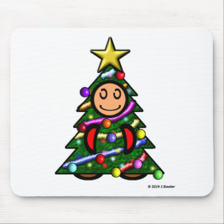 Christmas Tree (plain) Mouse Pad