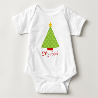 Christmas Tree Polka Dots Kids Personalized T-shirt
