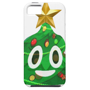 christmas tree poop emoji iphone se55s case