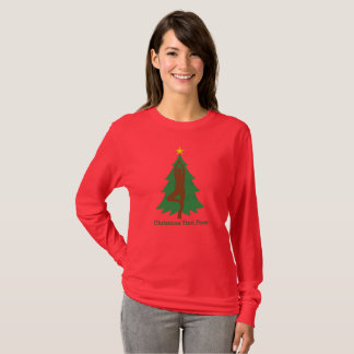 """Christmas Tree Pose"" long sleeve Tshirt"