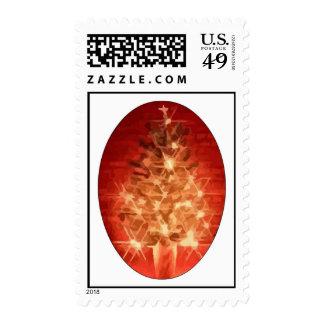 Christmas Tree Postage Stamps