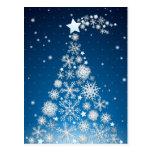 Christmas tree, postcard