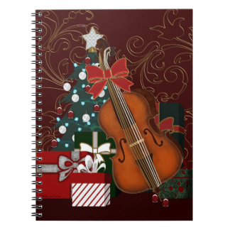 Christmas Tree Presents and Bass Viol Notebook