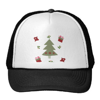 Christmas Tree Presents and Holly Trucker Hat