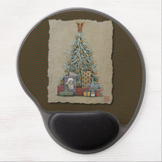 Christmas Tree & Presents Gel Mouse Pad