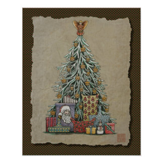 Christmas Tree & Presents Posters