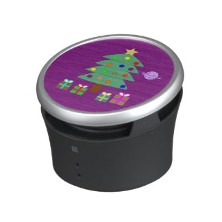 Christmas Tree & Presents Purple Bumpster Speaker