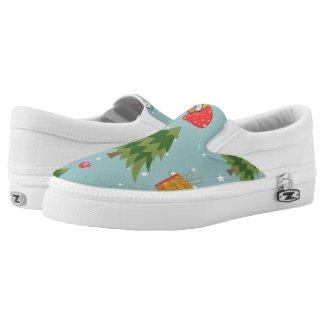 Christmas Tree Printed Shoes