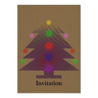 Christmas Tree - Purple decorated 5x7 Paper Invitation Card