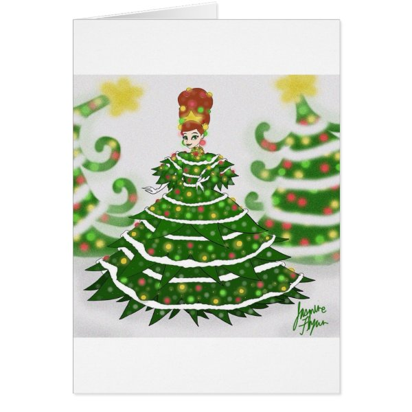 Christmas Tree Queen Card