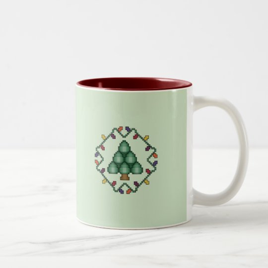 Christmas Tree Quilt Square Mug