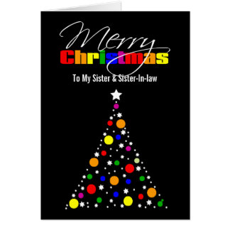 Christmas Tree Rainbow Card
