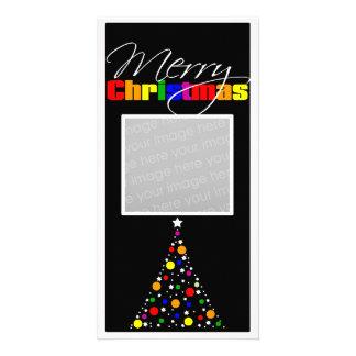 Christmas Tree Rainbow Photo Card