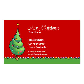 Christmas Tree red2 Business Card