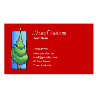 Christmas Tree red Business Card