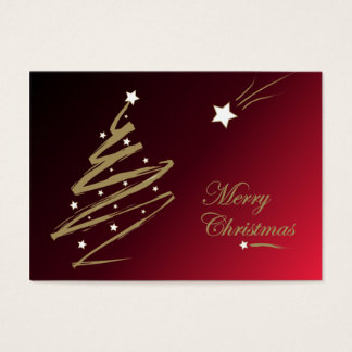 Christmas tree red - Gift tag card
