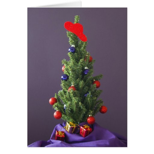Christmas Tree Red Hat Card
