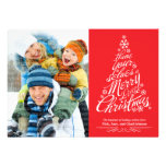 Christmas Tree (Red) Holiday Photo Card Personalized Invite