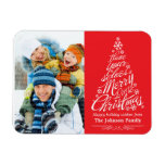 Christmas Tree (Red) Holiday Photo Premium Magnet