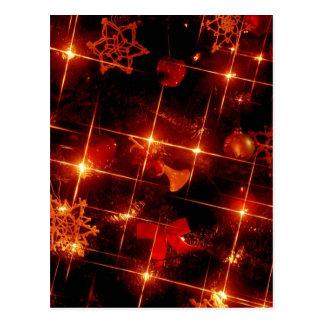 Christmas Tree Red Lights Postcard