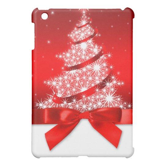 Christmas Tree With Red Ribbon: Christmas Tree Red Ribbon IPad Mini Case