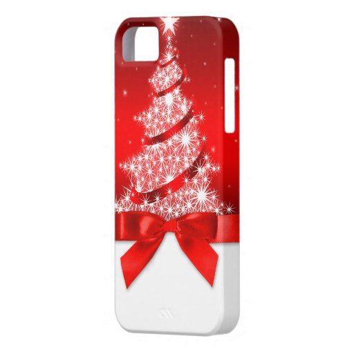 Christmas Tree Red Ribbon iPhone 5 Cover