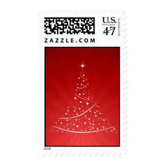 Christmas Tree (Red) stamps