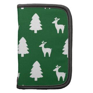Christmas tree Reindeer green white Folio Planner