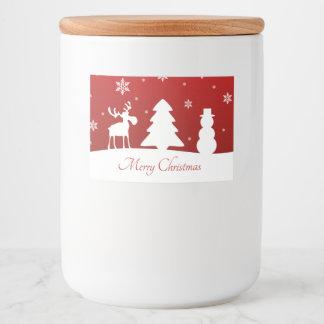 Christmas Tree Reindeer Snowman - Food Label