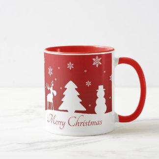 Christmas Tree Reindeer Snowman - Mug