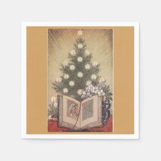 Christmas Tree Religious Vintage Paper Napkins