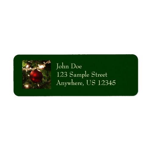 Christmas Tree Return Address Label