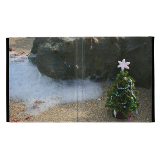 Christmas Tree Right Side Waves Rocks iPad Cases