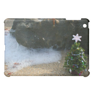 Christmas Tree Right Side Waves Rocks Cover For The iPad Mini
