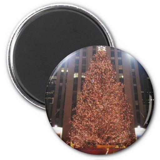 Christmas Tree Rockefeller Center Fridge Magnets
