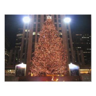 Christmas Tree Rockefeller Center Custom Invitations