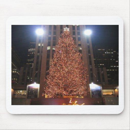 Christmas Tree Rockefeller Center Mouse Pads