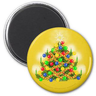 CHRISTMAS TREE Round Magnet