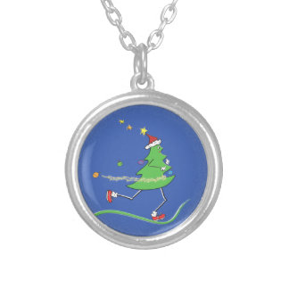 Christmas Tree Runner © Running Round Pendant Necklace