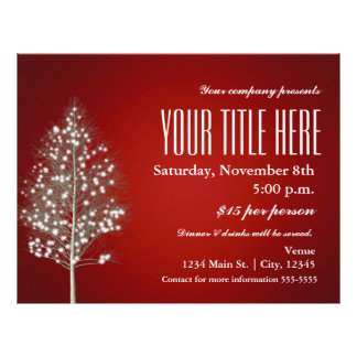 Christmas Tree Rustic Light Holiday Event Flyer